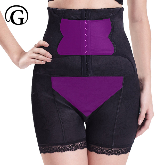 PRAYGER high waist Shaper Magic body building Firm Control panties Support Slimming Tummy Power short Lace oversize