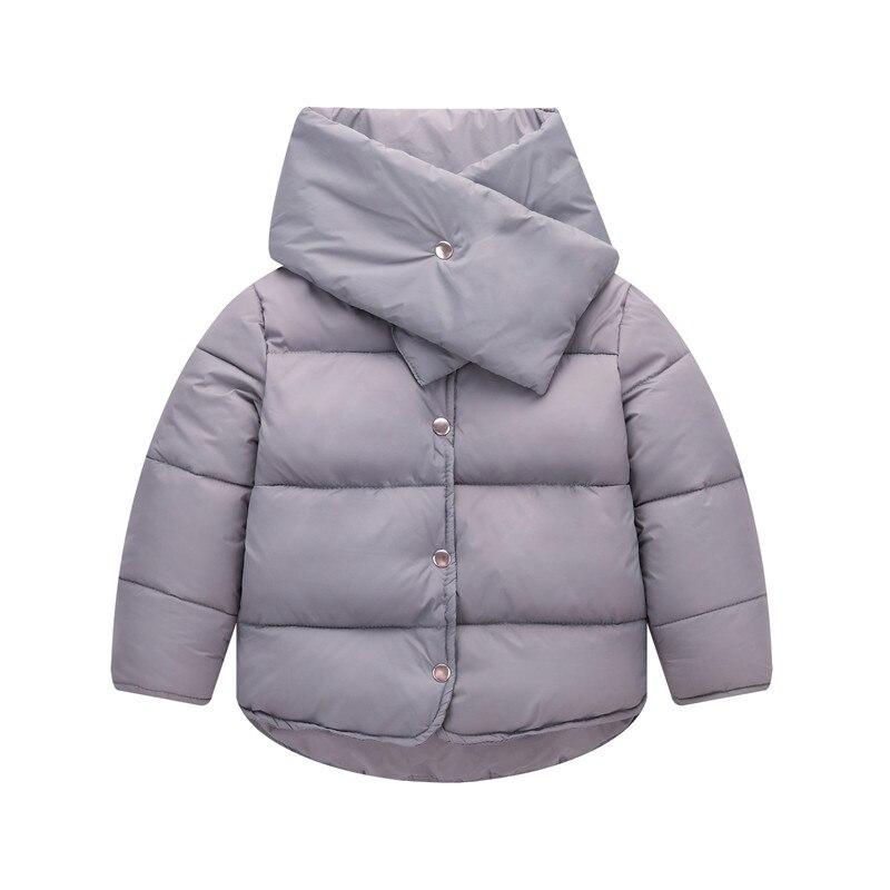 Çocuk Kış Ceketler 2 adet Kız Giyim Ceket Aşağı Kısa Ceket + eşarp 100% Beyaz Ördek Sıcak Tutmak Boys kış Ceket dj014