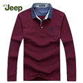 2016 new spring Brands AFS JEEP t shirt men's long-sleeved fashiont-shirt casual Solid Slim fit T-shirt size M-3XL 60