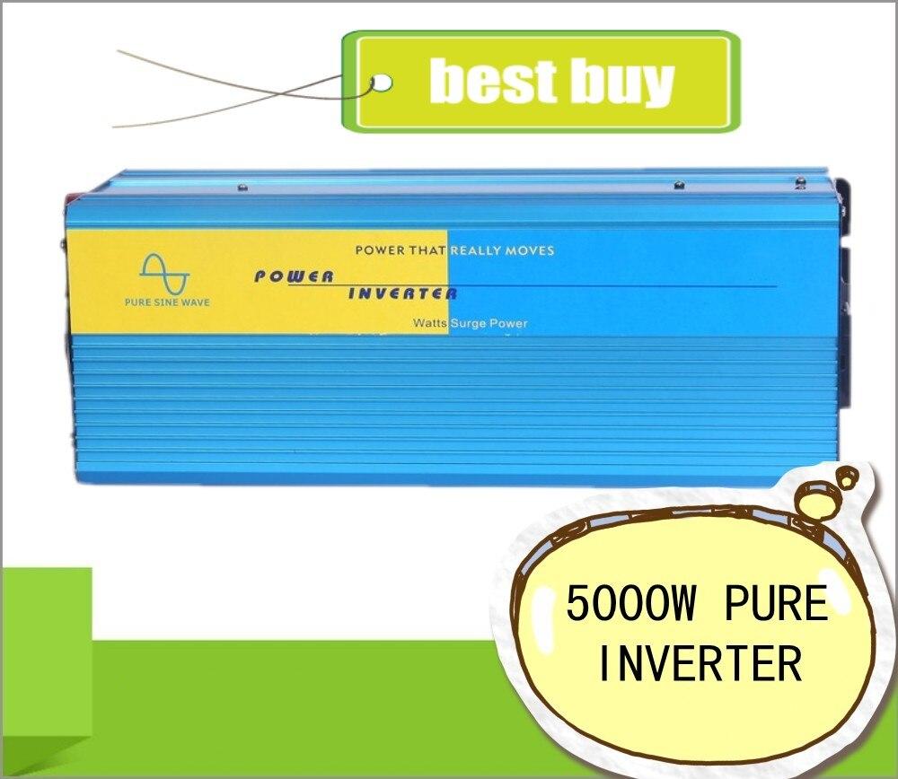 Doubel Digital Display 5000W peak 5000W Pure Sine Wave Power Inverter 24V DC to 220V 230V  Off Grid Power Converter Solar System