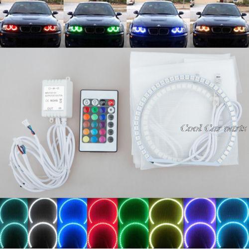 ФОТО 4x Xenon RGB remote Multi-Color LED Angel Eyes Kit for BMW E90 2006-2008 E60