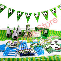 135pcs/lot football Children Birthday Party Decorations Kids Party Supplies Birthday Disposable Tableware Sets Kids Party Favors