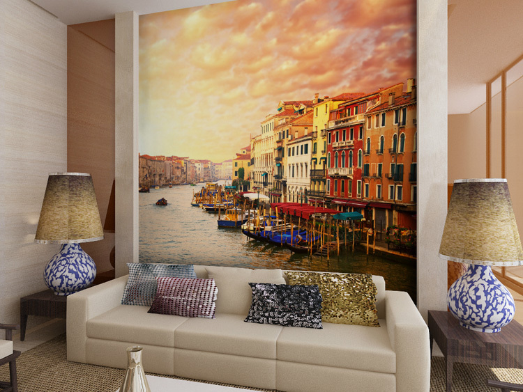 Aliexpress Com Buy Large Custom Mural Wallpapers Living: Aliexpress.com : Buy Mural Venice 3D Large Mural 3D