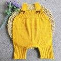 Moda Malha Romper Do Bebê para Menina Menino Macacão Infantil Macacão Roupa Do Bebê 3 Cores M/L