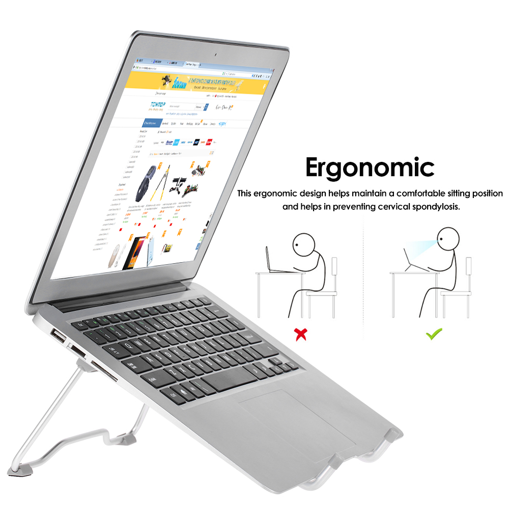 portable laptop stand foldable office work laptop holder notebook support adjustable desktop. Black Bedroom Furniture Sets. Home Design Ideas