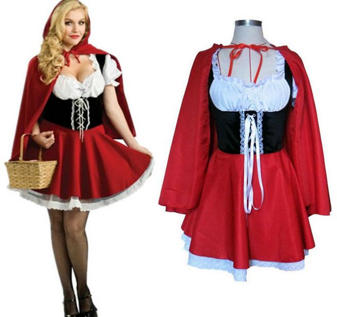 Wish list Little Red Riding Hood Storybook Fancy Dress Halloween Ladies Party S-3XL plus size carnival holiday costume