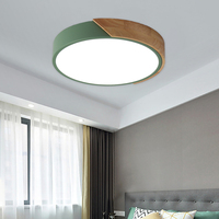 Wood Metal 5cm Ultra thin modern LED Ceiling Lights Lamp Luminaria Ceiling Light With 3 Color Fixtures Lustre Plafonnier