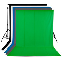 Neewer 5 Pieces Of 6 X 9FT 1 8 X 2 8M Photo Studio Muslin Collapsible