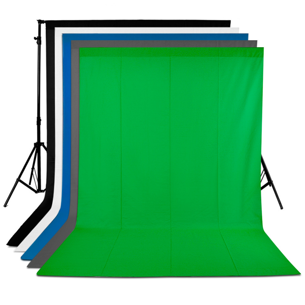 Neewer 5 Pieces of 6 x 9FT/1.8 x 2.8M Photo Studio Muslin Collapsible Background Backdrops for Photography,Video and Television ps3 03 6 x 9 studio lighting kit black white and green muslin backdrops and background stand kit