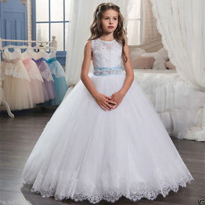 купить Flower Girl Dress Communion Party Prom Princess Pageant Bridesmaid Wedding дешево