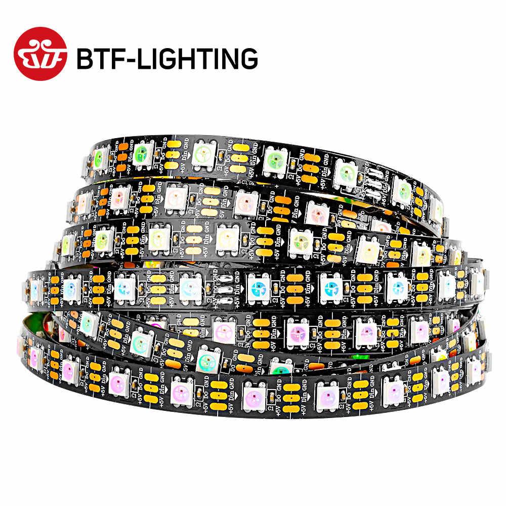 1 м/4 м/5 м 30/60/74/100/144 светодиодов/m ws2812b 2812 Светодиодная лента Водонепроницаемый IP30/IP65/IP67 черная печатная плата/белый печатных плат гибкий линейный светильник DC5V