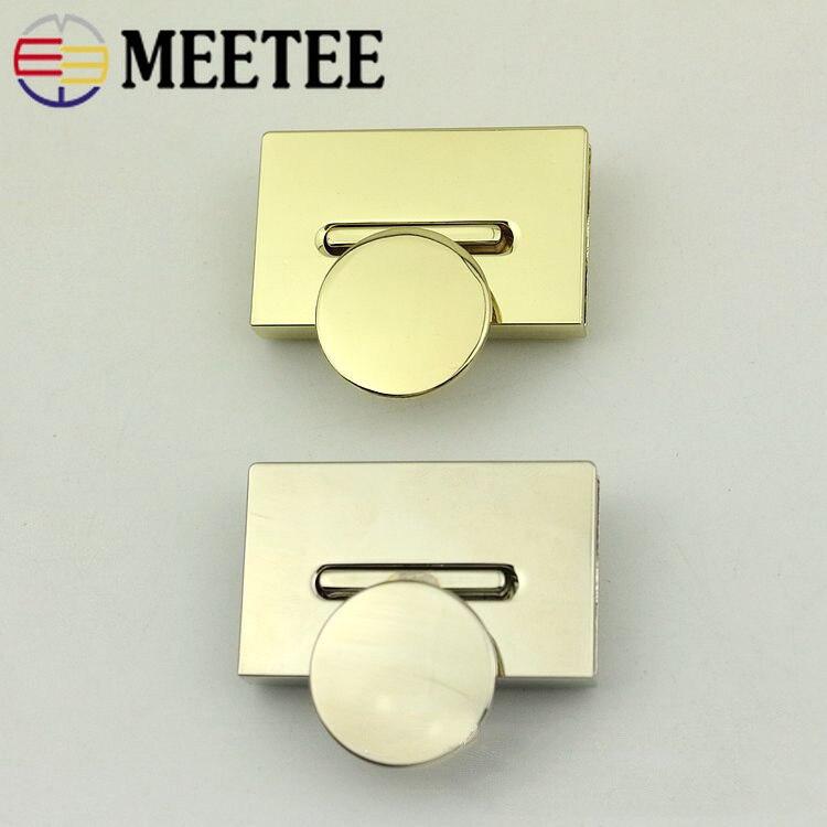 2pcs 42x29mm Handbag Bag Twist Turn Lock For Diy Replacement Metal Locks Purse Snap Clasp Closure Hardware Accessories In Pain Buckles & Hooks