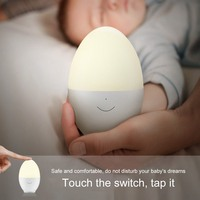 Egg Night Light Touch Sensor Switch Bedroom with Sleep Energy saving Plug LED Soft Light Lamp Baby Children Creative Night Light