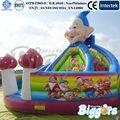 Frete grátis por mar inflável combinação de slides Bouncer para crianças de diversões inflável Bouncer inflável
