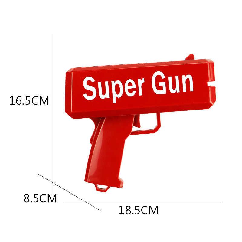 TUKATO lo hace lluvia pistola de dinero rojo Cannon súper pistola juguetes 100 Uds. Bills juego de fiesta al aire libre divertido regalo de moda pistola Juguetes
