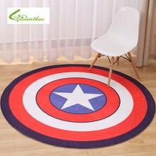 2017 Mignon de Bande Dessinée Ronde Carpet Non-Slip Multi 5 Living Colors chambre Enfants Chambre Tapis Captain America Tapis pour Chambre Livraison gratuite
