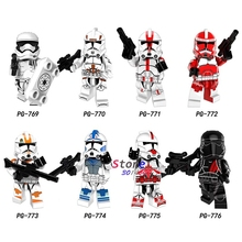 Single star wars Figure The Last Jedi Imperial Army Military Clone Trooper Stormtrooper building blocks toys for children