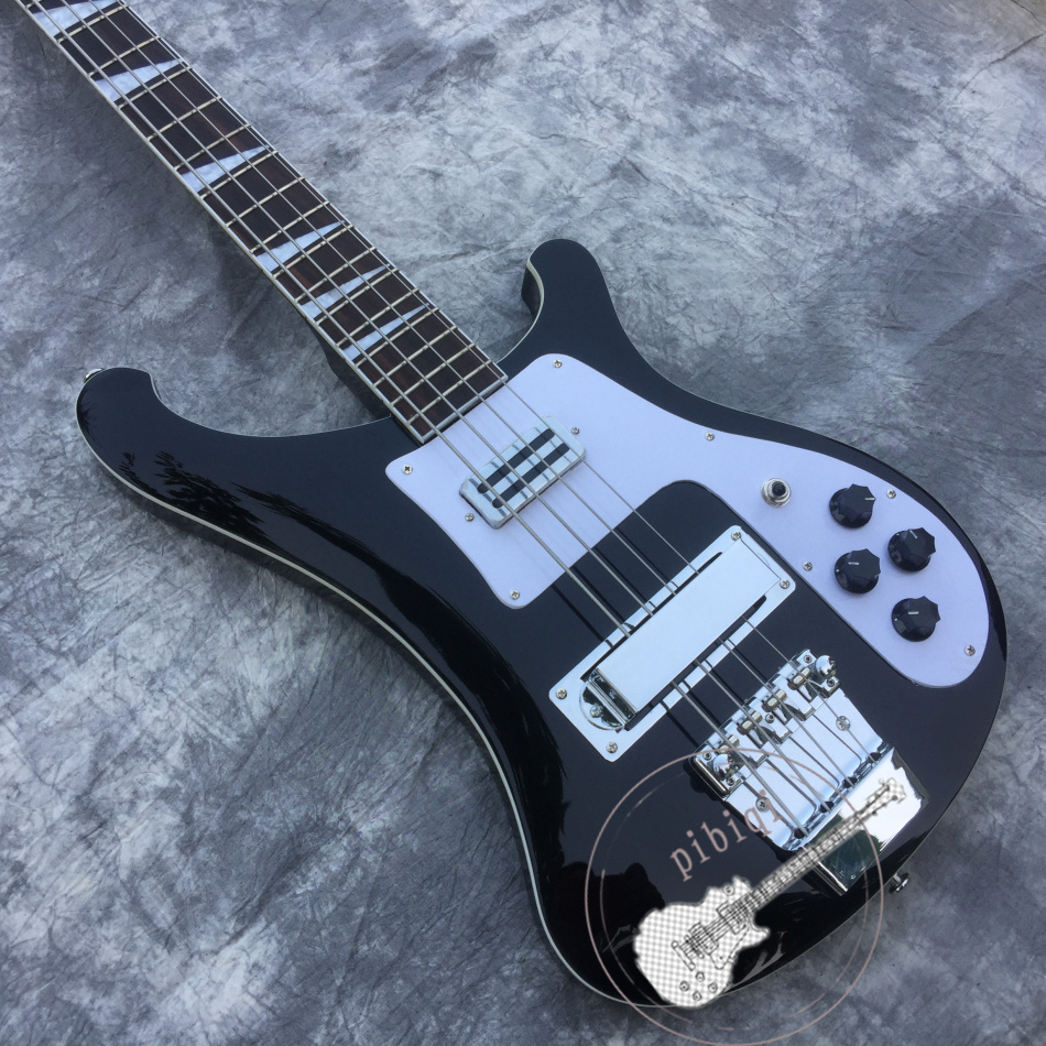 Free delivery, bass, 4 string bass guitar, high quality, black body, all colors can be customized!