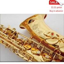 Selmer 54 Gold Plated Alto Saxophone Brand France Henri sax E Flat musical instruments professional E flat sax alto saxophone