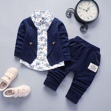 BibiCola/весенне-осенний комплект одежды для мальчиков, комплекты детской одежды Детский Повседневный хлопковый комплект из 2 предметов для мальчиков, куртка+ штаны спортивный костюм для мальчиков