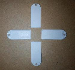 38*16mm ISO15693 protokoll ICODE2 tag etiketten RFID schmuck label 13,56 MHZ anhänger tags