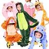 Winter Warm Long Sleeve Boys Pyjamas Kids Cartoon Anime Animal Cosplay Onesie Flannel Children S Sleepwear