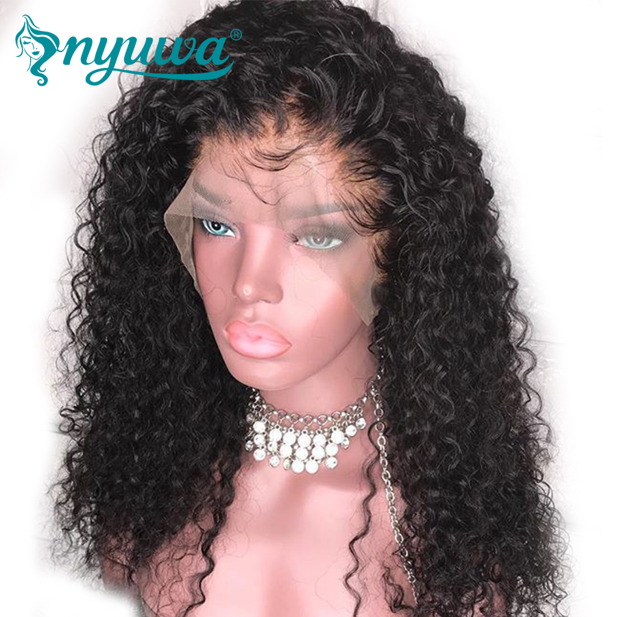 360 Lace Frontal Wig With Baby Hair Brazilian Remy Curly Lace Front Human Hair Wigs Pre