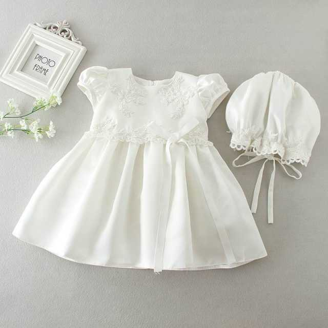 9c2f8cc34e8 Retail Newborn Baby Girls Brithday Dress Christening Gown Dress White  Princess Embroidery Dresses Hats for Newborn