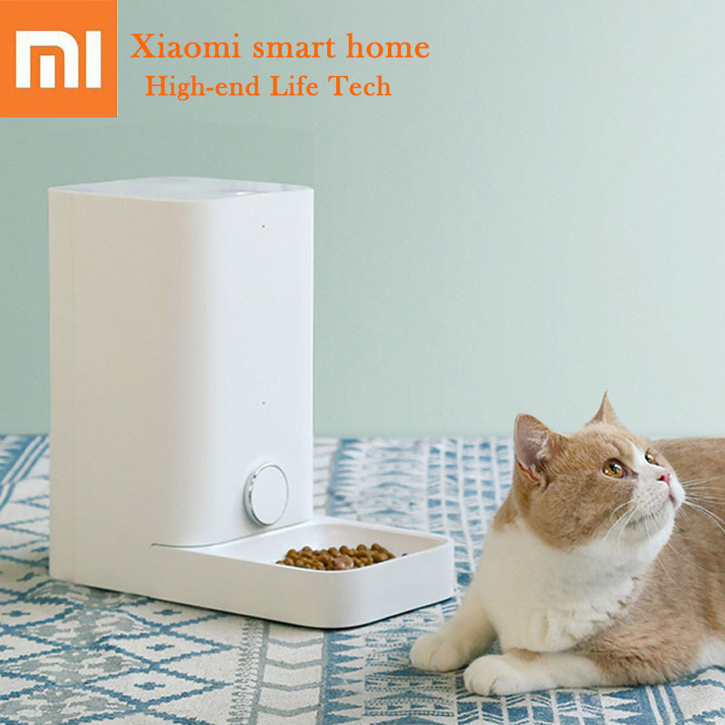 Xiaomi Smart Kitten Pets Feeder Fully Removable Washable Freshly Stored 1.5kg Cat Food Wifi Wireless Remote Control For Cat