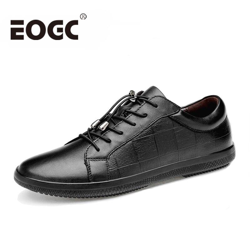 Handmade Black men sheos Genuine leather Men casual shoes 2018 Fashion High quality men flats shoes Moccasin Walking shoes male