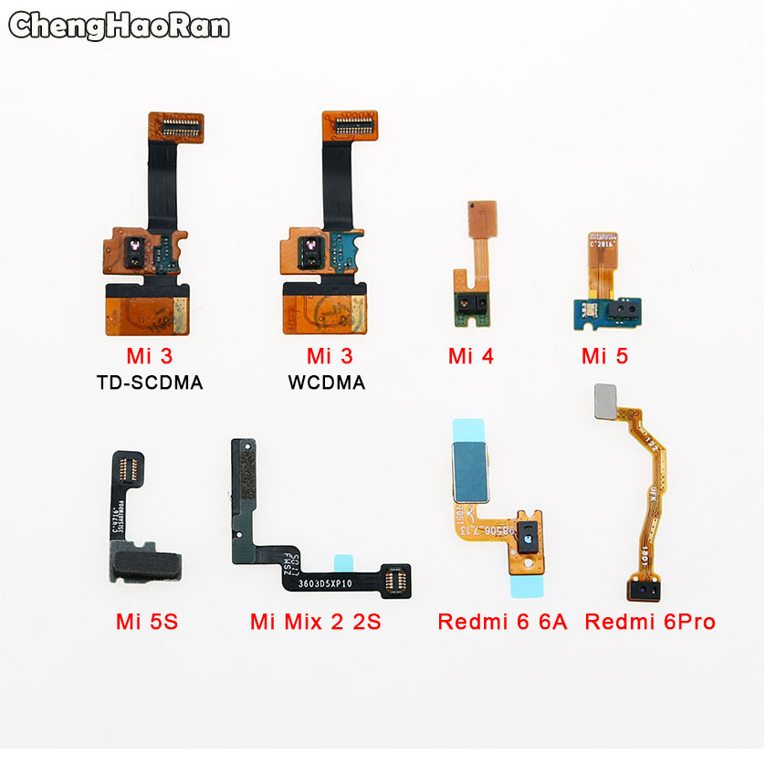 ChengHaoRan For Xiaomi Mi 3 4 5 5S Mix 2 2S Mi5 Redmi 6 6A 6 Pro Proximity Light Sensor Flex Cable Distance Sensing Connector