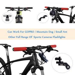 Image 5 - JINSERTA soporte para luz para Gopro 7 6 5 extensión de manillar de vástago de cámara, adaptador para bicicleta de montaña y carretera