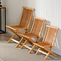 Bamboo Furniture Fishing Chair Folding Stool Indoor/Outdoor Use Multifunctional Portable Lightweight Chair For Garden or Beach
