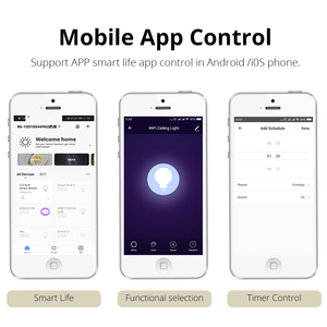 Image 4 - Smart Downlight LED RGBW APP Control Voice Control by Google Assistant/Alexa Echo/IFTTT/APP 3.5 inch 10W