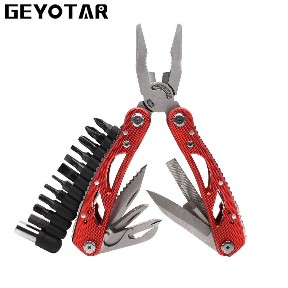 Outdoor Multitool Pliers Repair Pocket Knife Fold Screwdriver set Fishing Survival Portable Pocket Multi EDC Hand Tools DIY newacalox outdoor multitool pliers repair pocket knife fold screwdriver set hand multi tool mini folding pocket portable fishing