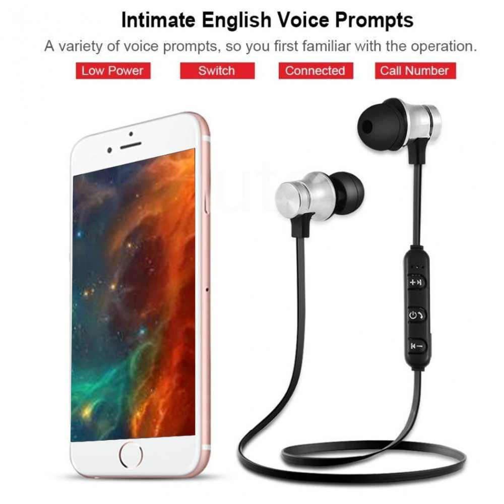 Xt11 Bluetooth Headphones Magnetic Wireless Running Sport Earphones Headset Bt 4 2 With Mic Mp3 Earbud For Smart Phones In Box Aliexpress
