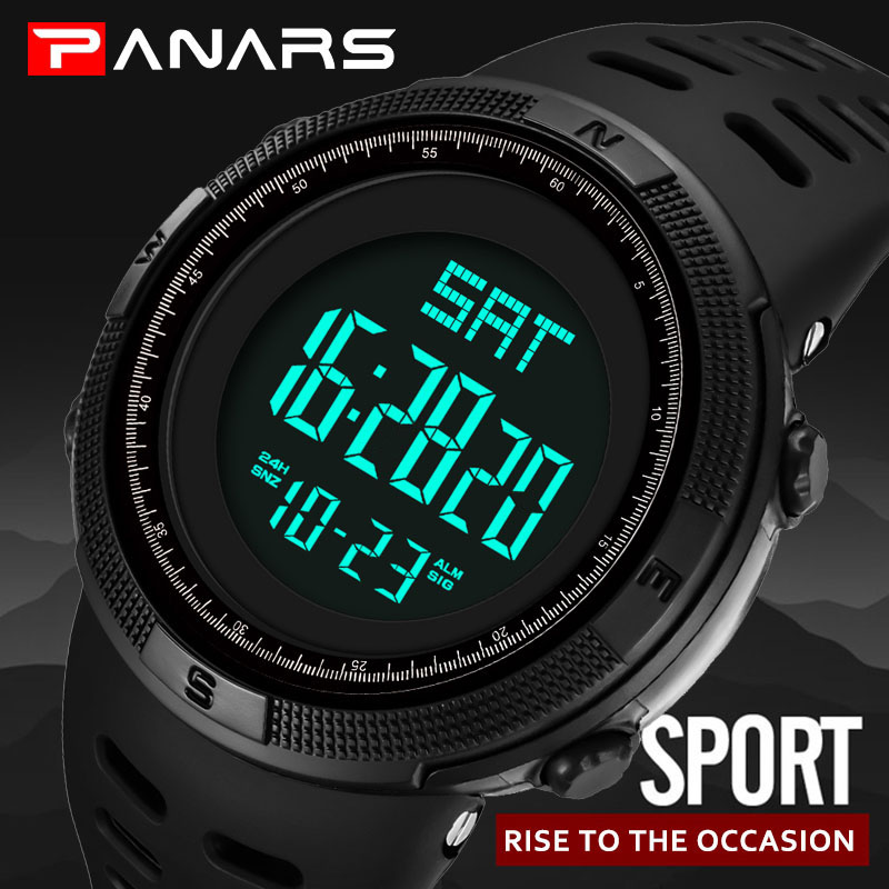 Digital Watch Men Sports Electronic Wrist Watch Military Waterproof LED Fitness G Watch Outdoor S Shock For Running Chronograph pasnew men s pressure outdoor sports waterproof wrist watch