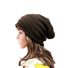 цены на 2019 New Fashion Winter Hats for Women Solid Warm Hats Knitted Beanies Cap Brand Thick Female Cap Wholesale for Autumn Men hat  в интернет-магазинах