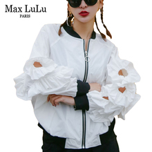 Max LuLu Fashion Korean Hip Hop Girls Loose Streetwear Women Casual Bomber Jacket 3d Printed Woman Zipper Coat Casacos Plus Size