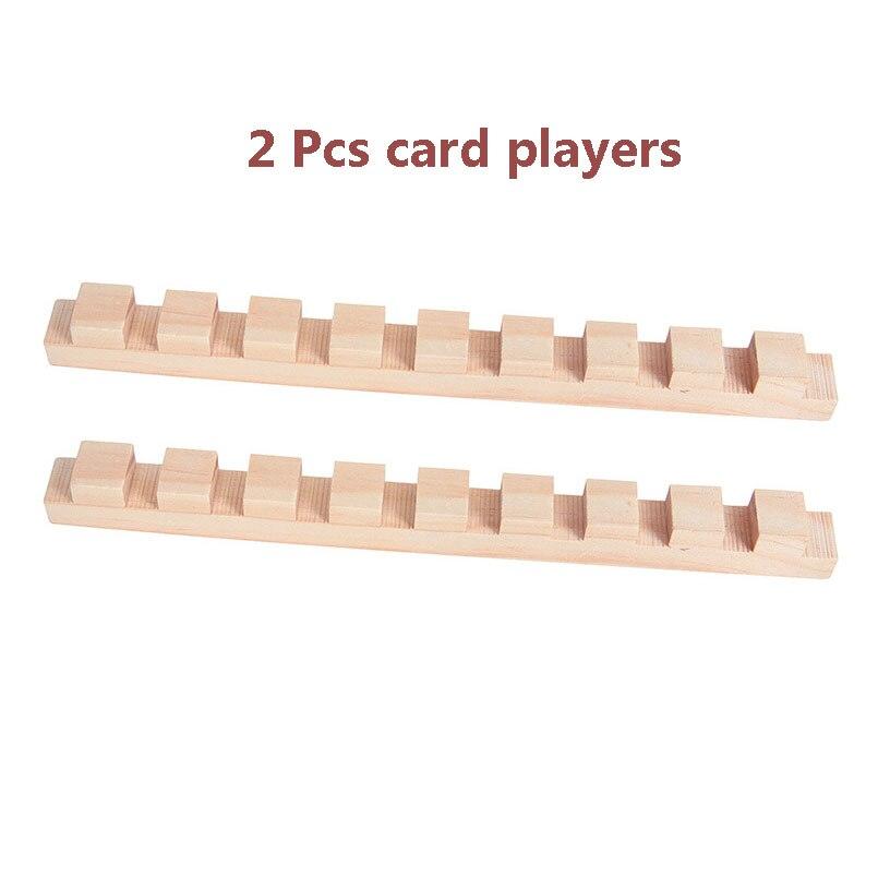Деревянные аксессуары для домино, игрушки, органные блоки, радужные головоломки, игра в домино, Монтессори, развивающие игрушки для детей - Цвет: Style 5(card player)