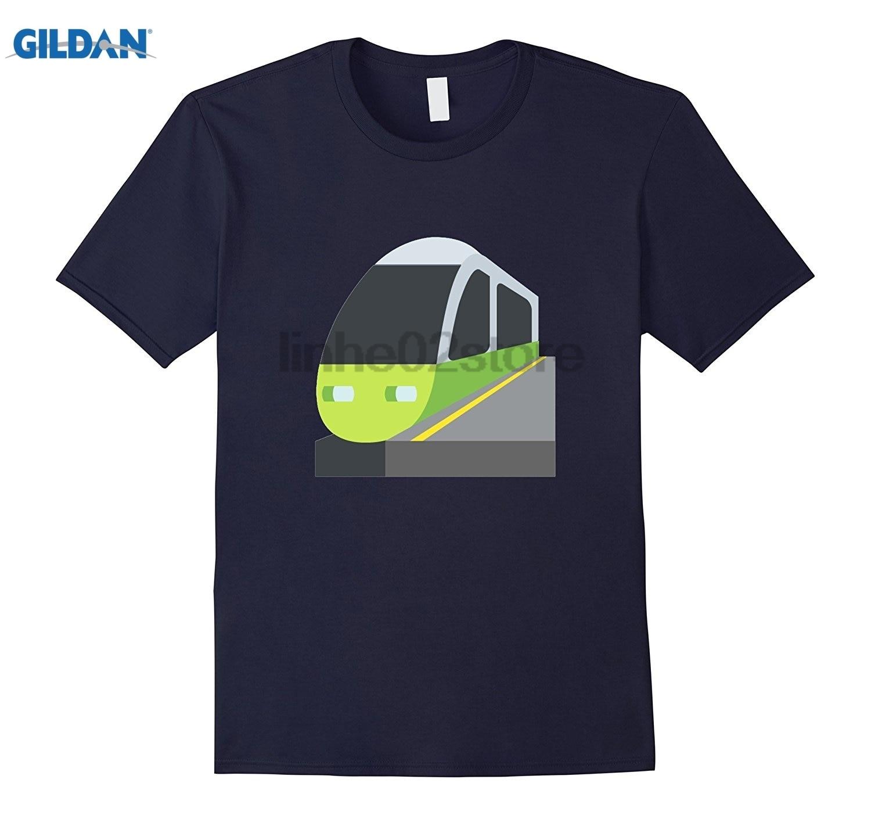 GILDAN Train Station Emoji T-Shirt Track Rail Subway Track Crossing glasses Womens T-shirt Mothers Day Ms. T-shirt