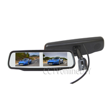 """ANSHILONG 4.3"""" TFT LCD Two Dual Screen Display Car Rearview Mirror Monitor w/ Special Bracket 4CH in"""