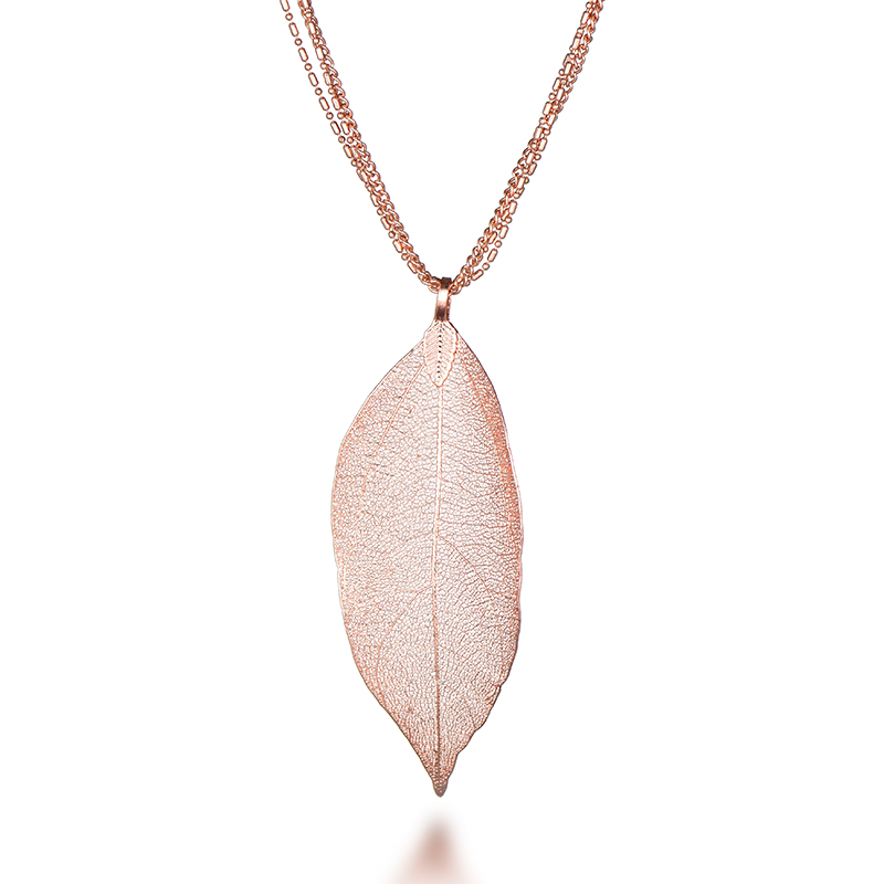 necklace leaf res hi pendant gold cleo