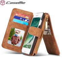 CaseMe Phone Case For IPhone 7 7 Plus 6 6s Plus 5 5s SE Leather Zipper