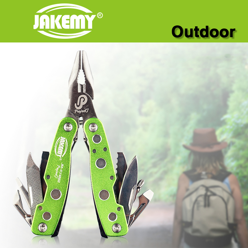 JAKEMY Multitool Tools Set Ferramentas Herramientas Flat nose Pliers Saws Screwdrivers font b Knife b font