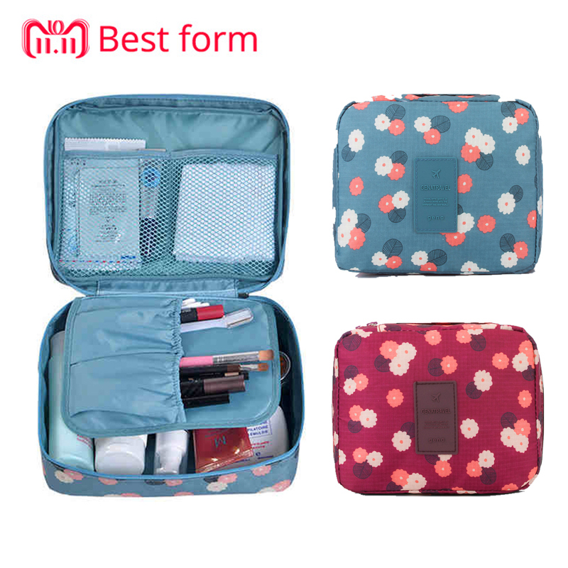 2018 New Travel Fashion Women Cosmetics Cosmetic Bag Beautician Storage Bags Large Capacity Women Wash Bag Makeup Bags For Women
