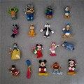 50 pçs/lote DlSNEY mini figura dos desenhos animados bonito Mickey Minnie Mouse Donald pato branco da Neve Margarida Pluto brinquedo para meninos meninas Natal presente