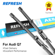 REFRESH Wiper Blades for Audi Q7 Fit Pinch Tab / Push Button Arms 2006 2007 2008 2009 2010 2011 2012 2013 2014 2015 2016 2017
