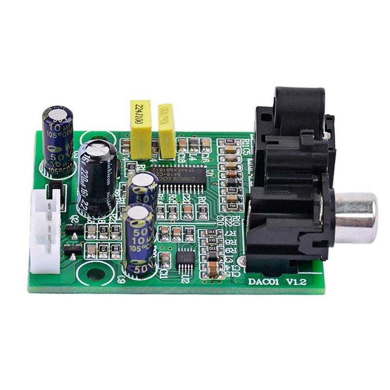 Dac Digital Decoder Cs8416 Cs4344 Optical Fiber Coaxial Digital Signal Input Stereo Audio Output Decod For