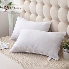 Liv-Esthete 100% Cotton White Pillow Remedial Neck Protect Vertebrae Health Sleep Slow Rebound For Side Sleeper